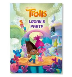 DreamWorks Trolls birthday custom book