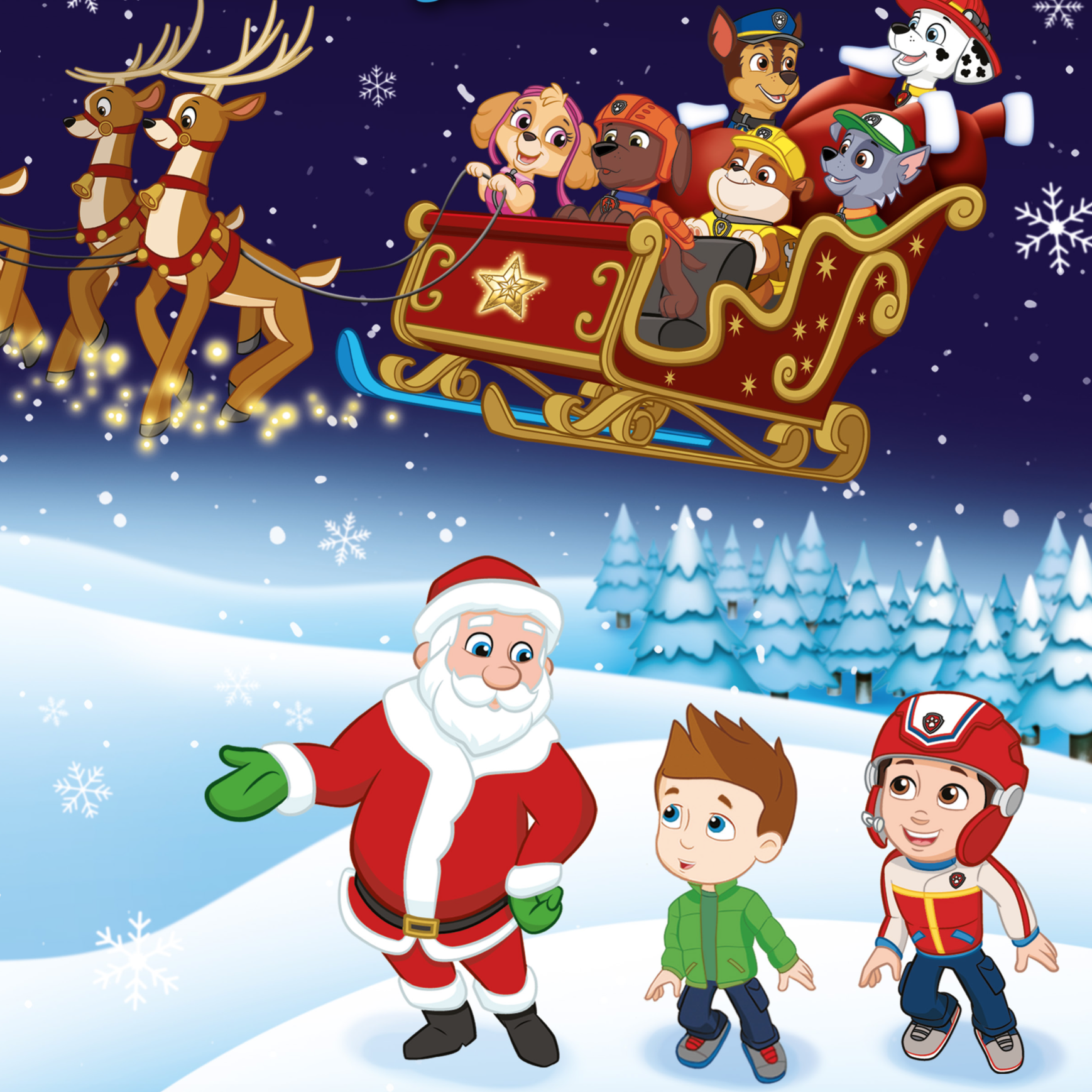 A little sneak peek for you... A brand new PAW Patrol Christmas adventure!